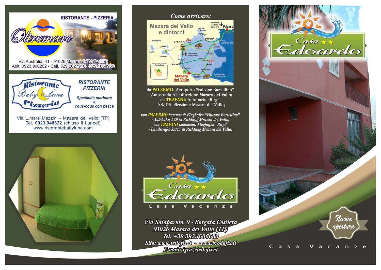 Casa Vacanze Edoardo Brochure fronte